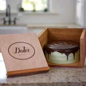 Dolce Wooden Cake Box